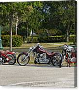 Hogs And Choppers Canvas Print