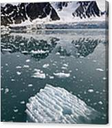 Icebergs Near The Monaco Glacier Canvas Print
