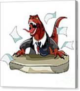 Illustration Of A Tyrannosaurus Rex Canvas Print