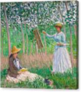 In The Woods At Giverny Canvas Print