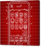 iPhone Patent - Red Canvas Print