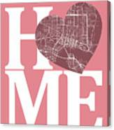 Jacksonville Street Map Home Heart - Jacksonville Florida Road M Canvas Print