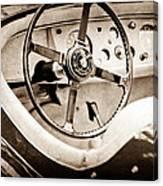 Jaguar Steering Wheel Canvas Print