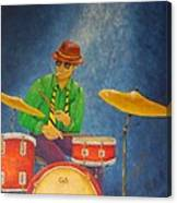 Jazz Drummer Canvas Print