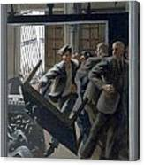 3. Jesus Drives Out The Money Changers / From The Passion Of Christ - A Gay Vision Canvas Print