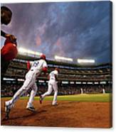 Kansas City Royals V Texas Rangers Canvas Print