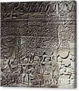 Khmer stone carvings angkor wat cambodia canvas print canvas art