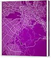 La Paz  Street Map - La Paz Bolivia Road Map Art On Colored Back Canvas Print