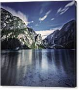 Lake Braies And Dolomite Alps, Northern Canvas Print