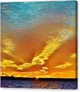 3 Layer Sunset Canvas Print