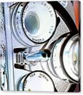 3 Lenses In Negative Canvas Print