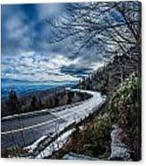 Linn Cove Viaduct During Winter Near Blowing Rock Nc Canvas Print