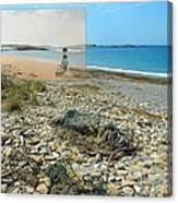 Lloyd's Bathing Beach At Sakonnet Point In Little Compton Ri Canvas Print