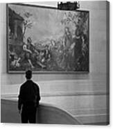 Looking At A Painting Canvas Print