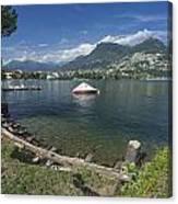Lugano By Lago Di Lugano Canvas Print
