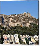 Lycabettus Hill During Sunset Canvas Print