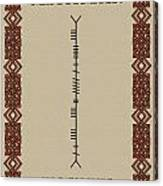 Maccormack Written In Ogham Canvas Print