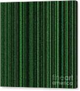 Matrix Green Canvas Print