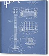 Mccarty Gibson Les Paul Guitar Patent Drawing From 1955 - Light Blue Canvas Print
