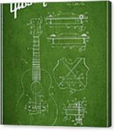 Mccarty Gibson Stringed Instrument Patent Drawing From 1969 - Green Canvas Print