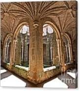 Medieval Monastery Cloister Canvas Print
