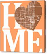 Miami Street Map Home Heart - Miami Florida Road Map In A Heart Canvas Print