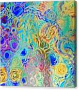 Modern Abstract Painting Original Canvas Art Ocean Life By Zee Clark Canvas Print