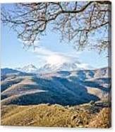 Monte Cinto From Col De San Colombano In Corsica Canvas Print