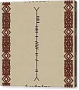 Moran Written In Ogham Canvas Print
