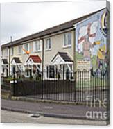 Mural In Shankill, Belfast, Ireland Canvas Print