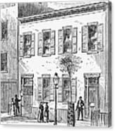 New York: Dispensary, 1868 Canvas Print