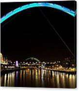 Newcastle Quayside And Sage Gateshead Canvas Print