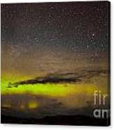 Northern Lights And Myriad Of Stars Canvas Print
