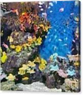 Ocean Aquarium In Shanghai Canvas Print