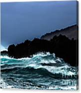 Ocean Foam In Fury Canvas Print