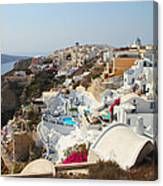 Oia Village Santorini Greece Canvas Print