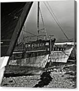 Old Abandoned Ships Canvas Print