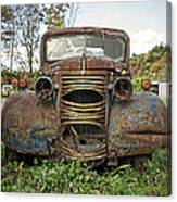 Old Junker Car Canvas Print