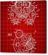 Optical Refractor Patent 1985 - Red Canvas Print