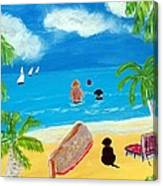 Palmy Beach Canvas Print