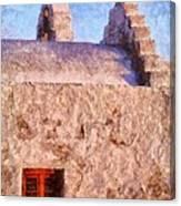 Panagia Paraportiani Church In Mykonos Island Canvas Print