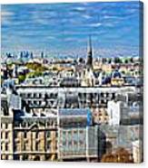 Paris Panorama France Canvas Print