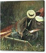 Paul Helleu Sketching With His Wife Canvas Print