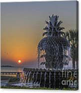 Waterfront Park Glowing Canvas Print
