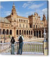 Plaza De Espana Pavilion In Seville Canvas Print