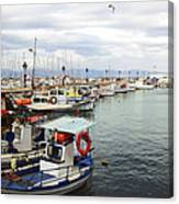 Port Of Aegina Canvas Print