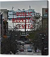 Public Market Center In Seattle Canvas Print