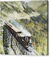Railroad Bridge, C1870 Canvas Print