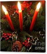 3 Red Candles Canvas Print