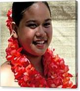 Red Lei Canvas Print